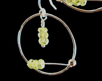 Earrings Handmade jewelry green stone Earrings Dangle earrings peridot earrings original design art jewelry patradashary handmade jewelry