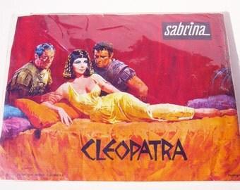 Vintage Elizabeth Taylor  Cleopatra Movie promotional stockings- SALE