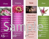 Custom Bookmark- Personalized by You- Laminated, Beaded - Quote or Message of Your Choice--B