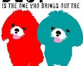 Shih Tzu Dog Art Print Wall Decor Best Friends Digital Art