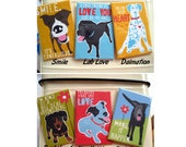 Dog Magnets, Set of 3, Dog Art, Dog Lover Gift, Funny Dog Art, Gifts Under 10, Small Gifts, Labrador Gifts, Border Collie Art, Chihuahua