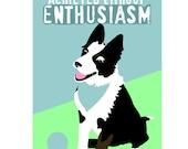 Classroom Art Childrens Art Print Border Collie Puppy Inspirational Dog Art Print for Kids