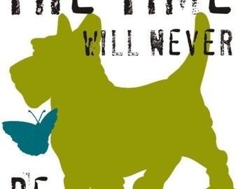 Scottish Terrier Dog Art Print Wall Decor Inspirational and Motivational