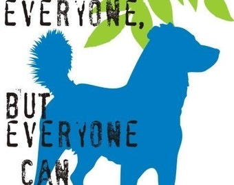 Mixed Breed Dog Art Print Wall Decor Inspirational Series