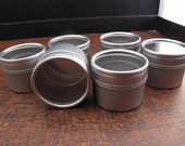 6 Clear Top Metal Tins 1 Ounce