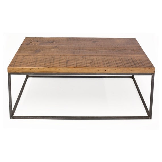 Salvaged wood coffee table reclaimed from train by crofthousela Train table coffee table