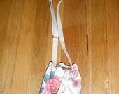 Pretty small canvas floral purse shoulder crossbody Liz Claiborne