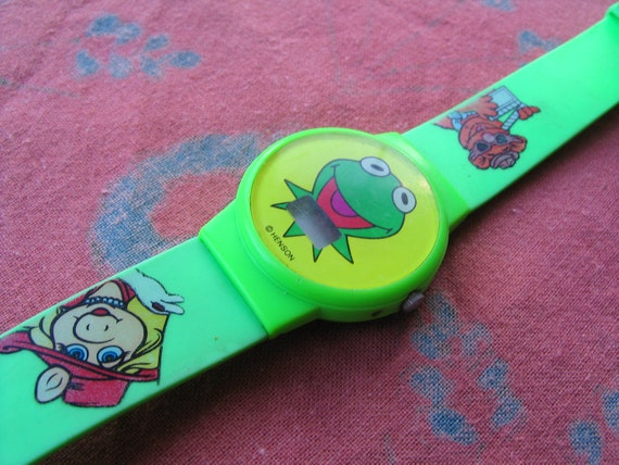 Iconic Kermit The Frog digital Muppets watch