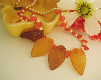 Autumn in my jewelry box necklace