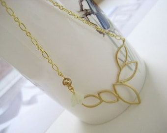 Modern cut gold plated pendant necklace