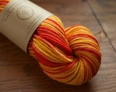 Yarn - Hand Dyed - Worsted Weight - Tiger Lily