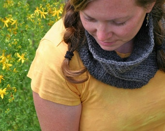 PDF Knitting Pattern - Knit Cowl - Scarf- Tangent Spiral - Women - Adult