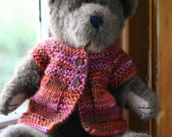 """Luna Sweater - Top Down Cardigan Knitting Pattern for 14"""" and 18"""" Dolls"""