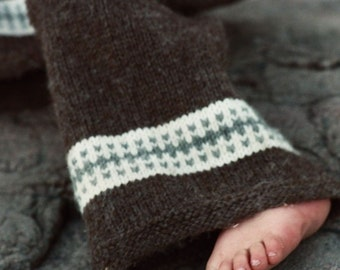 Knit Wool Longies - Knitting Pattern - Cloth Diaper Cover - Birchbark - Newborn baby to 24 months