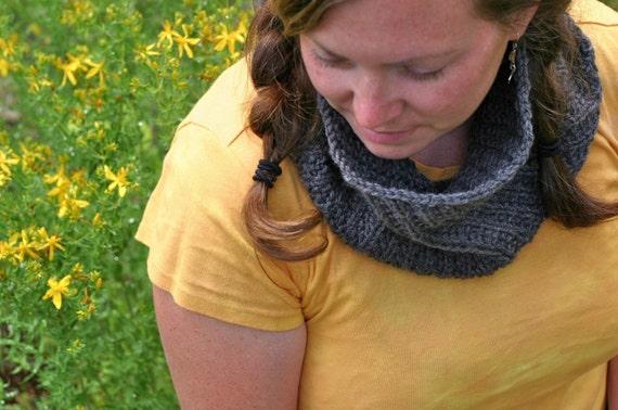 PDF Knitting Pattern - Knit Cowl - Scarf- Tangent Spiral - Women - Adult
