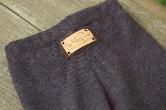 Upcycled Wool Longies - Midnight Dream - Dark Gray