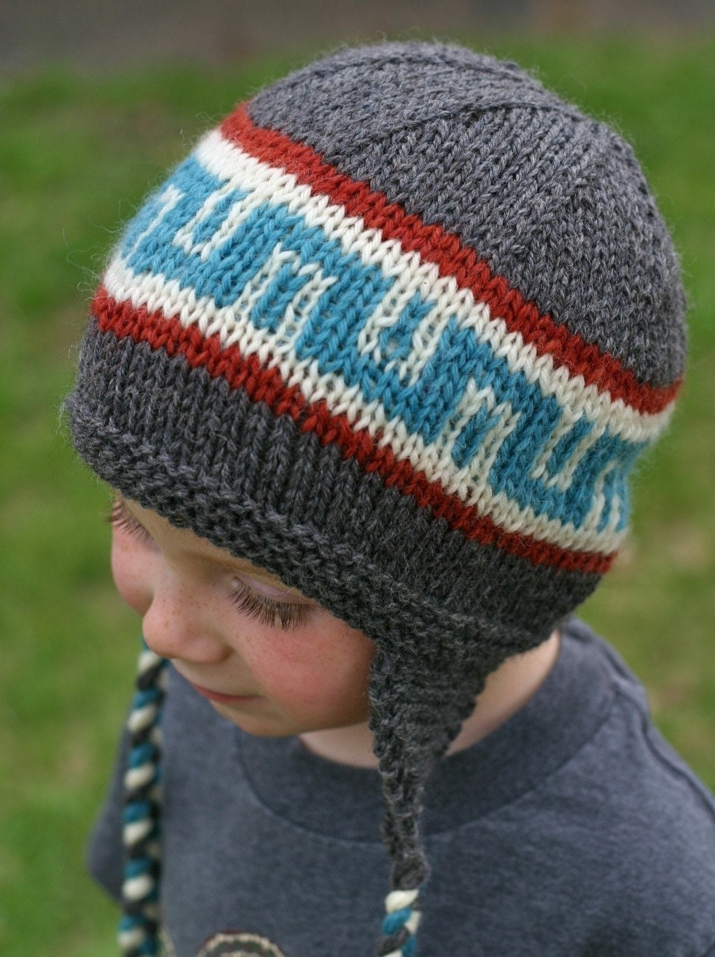 Kids Knit Hat Patterns : Knitting Pattern Earflap Hat Knit Hat Pattern Knitted