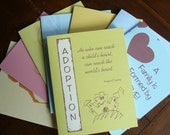 Adoption Cards SET OF 8 -  Your Choice of Cards with FREE U.S. SHIPPING