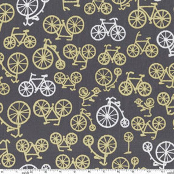 Michael Miller Bicycles in Citron- 1 yard