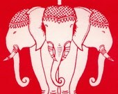 Set of  Five Elephant Stickers