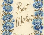 "Vintage Unused ""Best Wishes"" Greeting Card - Dates 1950's"