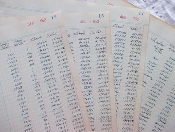 Vintage Ledger Papers