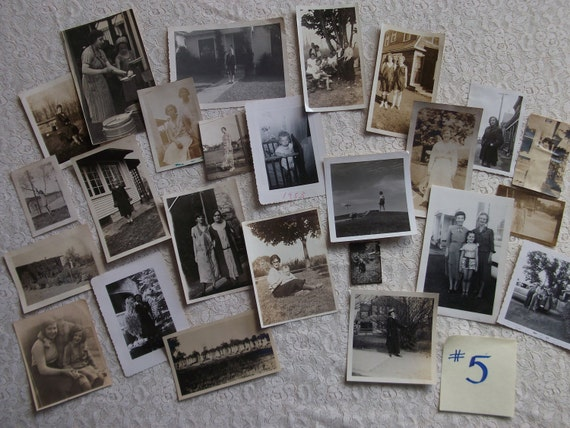 NEW SALE PRICE - Vintage Black and White Photo Grab Bag - Dates Pre-1950's