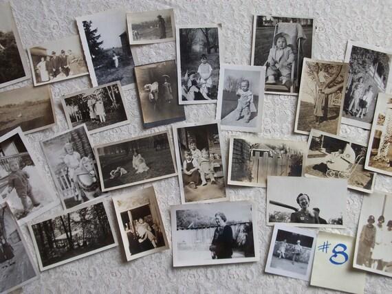 Vintage Black and White Photo Grab Bag - Dates Pre-1950's