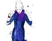 Watercolor Fashion Illustration - Jelena print
