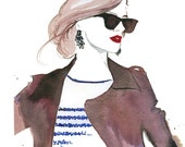 Watercolor Fashion Illustration - The Prep print