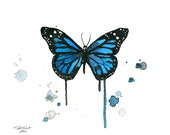 Watercolor Butterfly Illustration - Floating Butterfly print