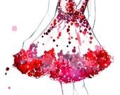 Watercolor and Pen Fashion Illustration, Jessica Durrant, - Do a Twirl print