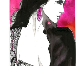 Watercolor Fashion Illustration - Unveiled