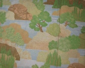 Vintage KING  flat  bed sheet  Fall River