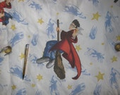 Harry  Potter fabric   twin flat    bed  sheet reclaimed linens