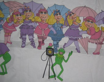 Miss Piggy Kermit twin single flat bed    sheet
