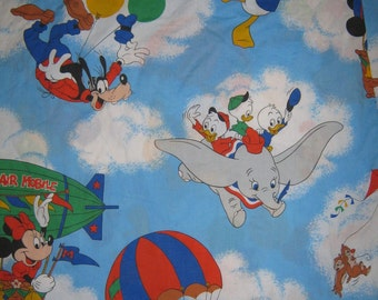 Mickey mouse and friends Twin flat bed  sheet Disney