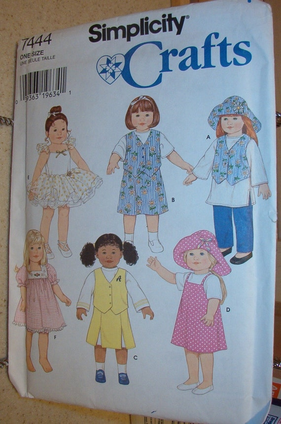 Did she get a new doll for Xmas. Simplicity 7444  American Girl Size Doll Clothes pattern