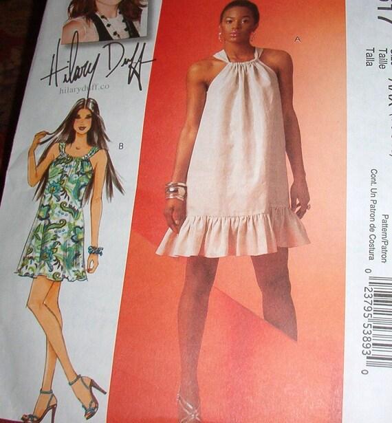 McCalls patten 5617 Misses  loose fitting Sun Dress pattern  sz 4 thru 10
