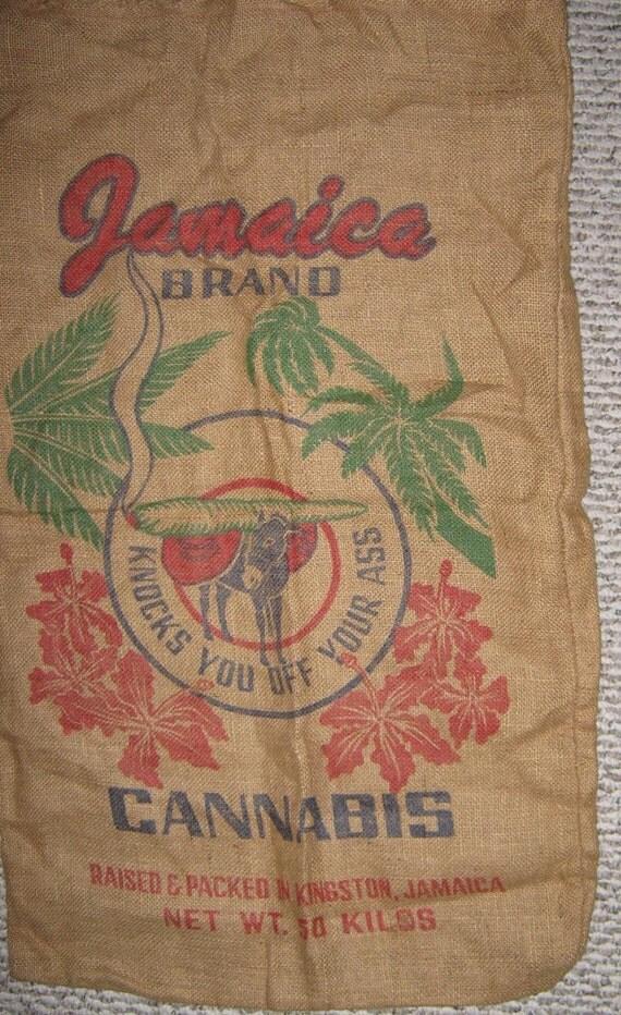 Burlap Cannabis Bag 50 Kilo Jamaica Brand