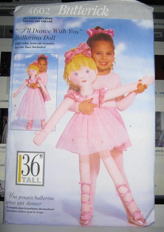 Simplicity doll Pattern 4602 Life size Ballerina dance Doll