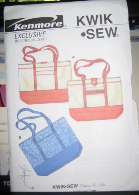 Kwik Sew tote bag   purse pattern