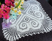 Four heart Doily