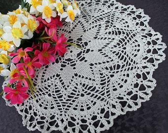 Silver Crochet Doily