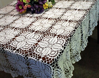 Beautiful Crochet Tablecloth