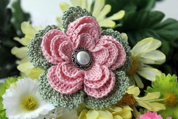 Beautiful pink Crochet  Flower