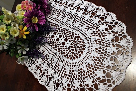 White  Crochet Runner