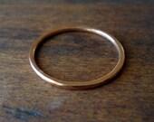 Handmade Rose Gold Skinny Stacker Ring