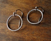Small Sterling Twisted Wire Hoops