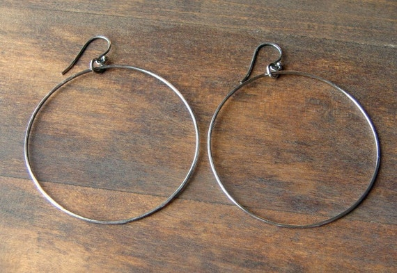 Extra Large Silver Hoops